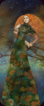 PreRaphaelite Fairy Sitting Under a Tree